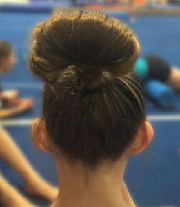 Flip over bun with tail hidden