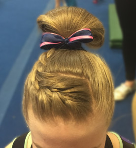 flip over bun with braid 3